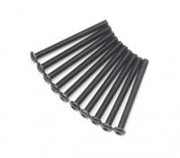 Metal Round Head Machine Hex Screw M3x34-10pcs / set