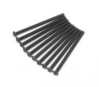 Metal Round Head Machine Hex Screw M3x45-10pcs / set