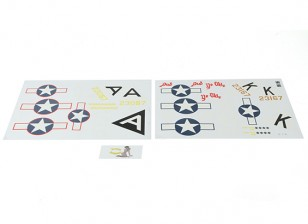 Hobbyking 1875mm B-17 F / G Flying Fortress (V2) (Olive) - vervangende sticker Set