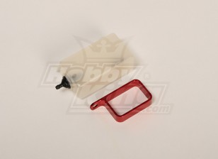 Header Tank w / metalen houder (rood)