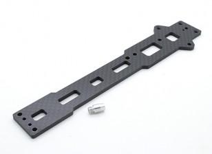 Upper Chassis Plate (koolstofvezel) w / hardware - A2003T, 110BS en A2010