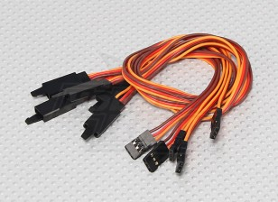 30CM Servo Lead Extention (JR) met haak 26AWG (5pcs / bag)