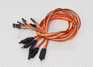 45CM Servo Lead Extention (JR) met haak 26AWG (5pcs / bag)