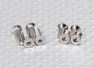 Turnigy Talon V2 Screw Set (4 stuks M3 x 12, 4 stuks M3 x 8)