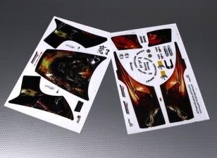 Zelfklevende stickervel - JSRacing 1/10 Schaal