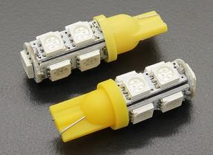 LED Corn Light 12V 1.8W (9 LED) - Geel (2 stuks)