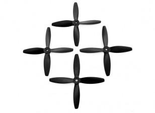 Lumenier FPV Racing Propellers 5040 4-Blade Black (CW / CCW) (2 paar)