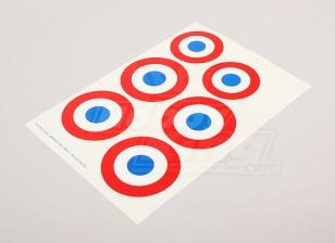 Schaal Nationale Insignes van de Luchtmacht Sticker Sheet - Frankrijk