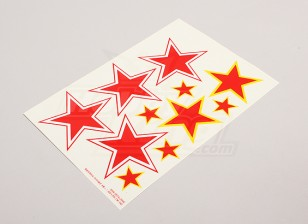Schaal Nationale Insignes van de Luchtmacht Sticker Sheet - USSR