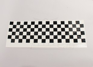 Stickervel Chequer Pattern Black / Clear 590mmx180mm