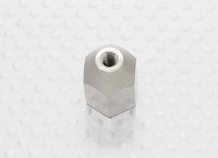 Brass Nut voor spinners M8x1.25-M4