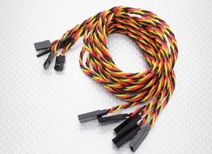 Twisted 80cm Servo Extension Lead (JR) 22AWG (5pcs / set)