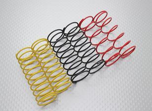 Voorzijde Shock Springs Zwart / geel / rood (2 stuks per kleur) - A2038 en A3015
