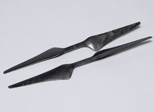Multirotor Carbon Fiber T-Style Propeller 15x5.5 Black (CW / CCW) (2 stuks)