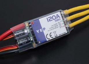 Hobbyking YEP 120A LV (2-6S) Brushless Speed Controller met selecteerbare SBEC