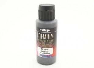 Vallejo Premium Color Acrylverf - Gunmetal (60ml)