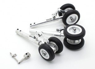 Alloy Oleo Strut Set met Anti-Rotation Link and Wheels 3mm Pin (Trike)