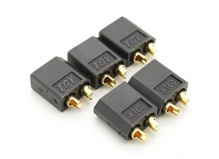 Black XT60 Man (5pc)
