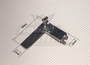 80mm Aluminium Rudder Set