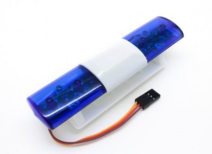 Politiewagen LED Lighting System Oval stijl (blauw)