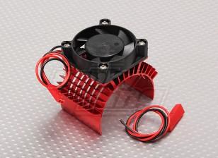 Motor Heat Sink w / Fan Red Aluminium (45mm)