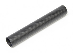 30 x 27 x 200mm Koolstofvezel Tube (3K) Plain Weave Matt Finish
