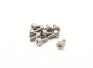 Titanium M2 x 4 Sockethead Hex Screw (10st / bag)