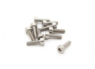 Titanium M3 x 10 Sockethead Hex Screw (10st / bag)