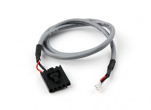 400mm 5 Pin Molex / JR tot 3 Pin White Afgeschermde Connector Lead