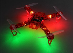 HobbyKing FPV250 V4 Red Ghost Edition LED Night Flyer FPV Drone (Rood) (Kit)