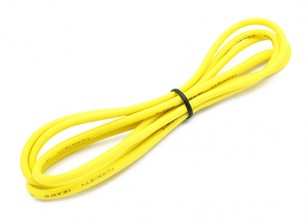 Turnigy Hoge kwaliteit 16AWG Silicone Wire 1m (Geel)