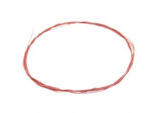 Turnigy Hoge kwaliteit 36AWG Teflon gecoate draad 1m (Rood)
