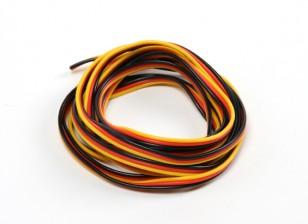 22AWG Servo Draad 2mtr (Rood / zwart / geel)