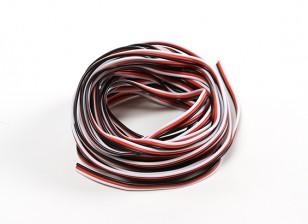 26AWG Servo Draad 5mtr (Rood / zwart / wit)