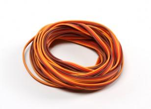 26AWG Servo Draad 5mtr (Rood / bruin / oranje)