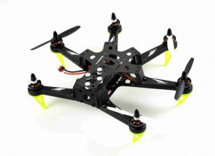 Spedix S250AH Carbon Fiber Drone w / CC3D VOB Motor ESC Propellers (ARF)