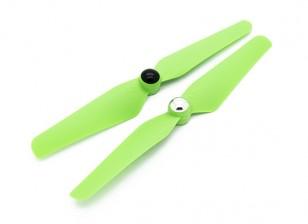 Quanum Self Aanscherping Nylon Propeller 6x3.2 Green (CW / CCW) (2 stuks)