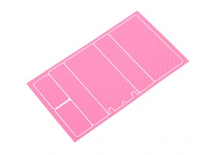 TrackStar Decorative Batterij Cover Panels voor 2S Shorty Pack Pink Carbon Pattern (1 Pc)