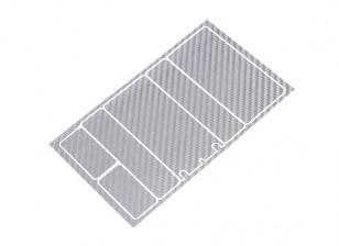 TrackStar Decorative Batterij Cover Panels voor 2S Shorty Pack Silver Carbon Pattern (1 Pc)