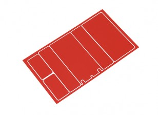 TrackStar Decorative Batterij Cover Panels voor 2S Shorty Pack Metallic Red Color (1 Pc)