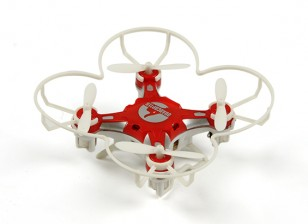 FQ777-124 Pocket Drone 4CH 6Axis Gyro Quadcopter met schakelbare Controller (RTF) (Rood)