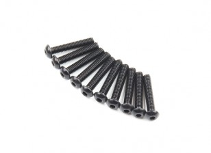 Metal Round Head Machine Hex Screw M2.6x14-10pcs / set
