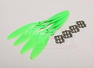 GWS Style Slowfly Propeller 9x4.7 Green (CW) (4 stuks)