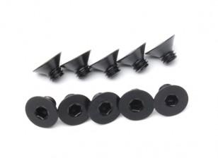 Metal platte kop Machine Hex Screw M4x5-10pcs / set