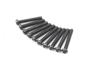 Metal Round Head Machine Hex Screw M2x12-10pcs / set
