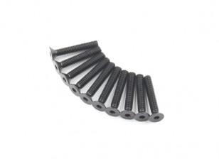 Metal platte kop Machine Hex Screw M5x30-10pcs / set