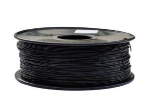HobbyKing 3D-printer Filament 1.75mm polycarbonaat of PC 1.0kg Spool (zwart)