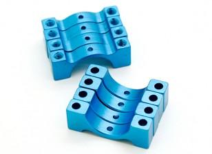 Blauw geanodiseerd CNC Halve cirkel Alloy Tube Clamp (incl.screws) 12mm