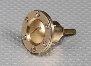 CNC Alloy benzinedop Port voor grote schaal gas / turbine modellen (Fuel Dot - Gold)