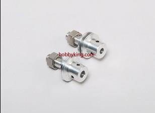 Prop adapter w / Steel Nut 5 / 16x24-M6mm as (Grub Screw Type)